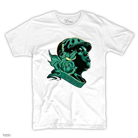 Biggie Rose T-Shirt | Beyaz