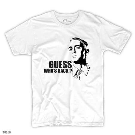 Eminem Guess Who's Back T-Shirt | Beyaz