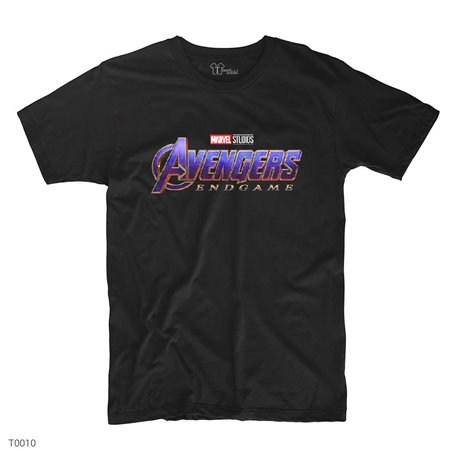 Avengers End Game Logo T-Shirt | Siyah