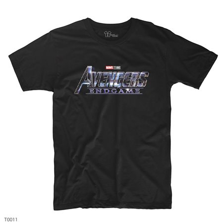 Avengers End Game Logo - 2 T-Shirt | Siyah