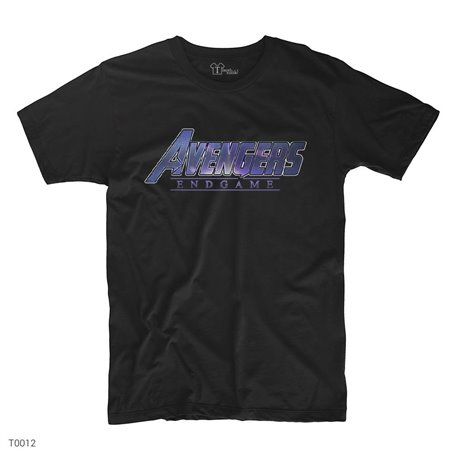 Avengers End Game Logo - 3 T-Shirt | Siyah